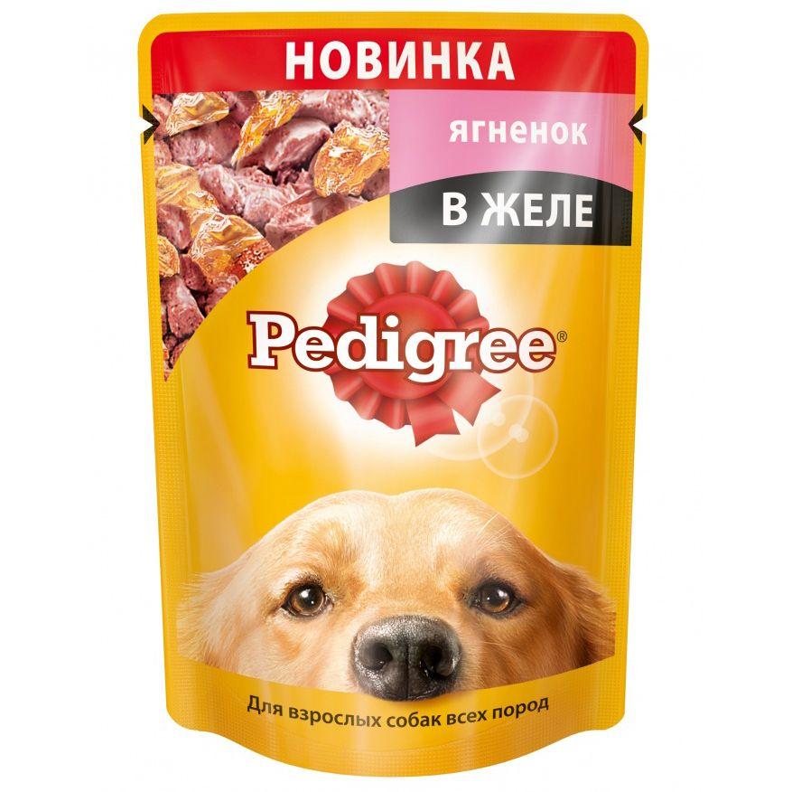 Корм для собак Pedigree ягненок в желе пауч. 100г веселое сердце 2018 12 27t11 00