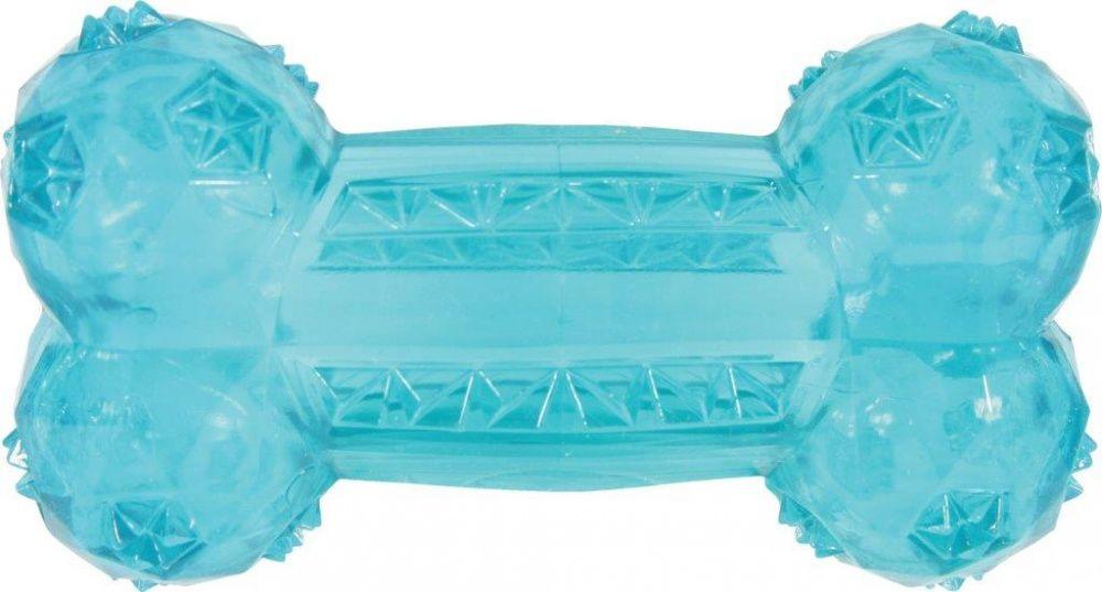 купить Игрушка для собак ZOLUX Кость термопластичная резина бирюзовая 12см недорого