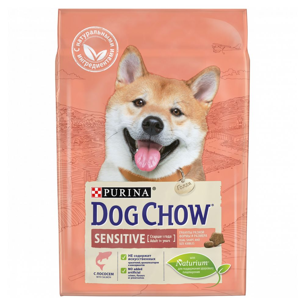 Корм для собак Dog Chow с чувствительным пищеварением лосось сух. 2,5кг корм для кошек trainer solution sensintestinal с чувствительным пищеварением сух 1 5кг