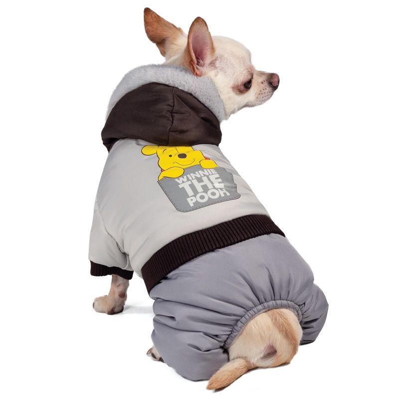 Комбинезон для собак TRIOL Disney Winnie-the-Pooh зимний Grey S, размер 25см winnie