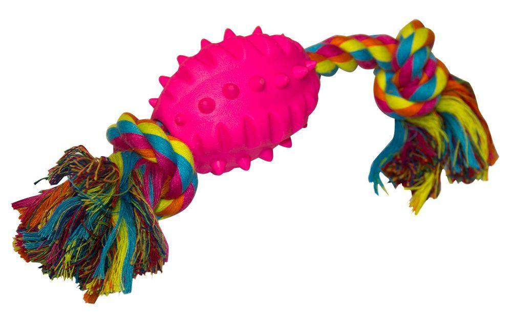 Игрушка для собак CHOMPER Мяч с шипами на канате игрушка для собак chomper колечки на веревке