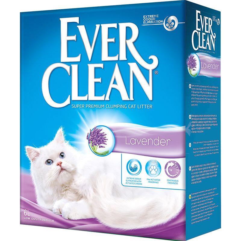 Наполнитель для кошачьего туалета EVER CLEAN Lavander комкующийся с ароматом лаванды 6 литров цена 2017