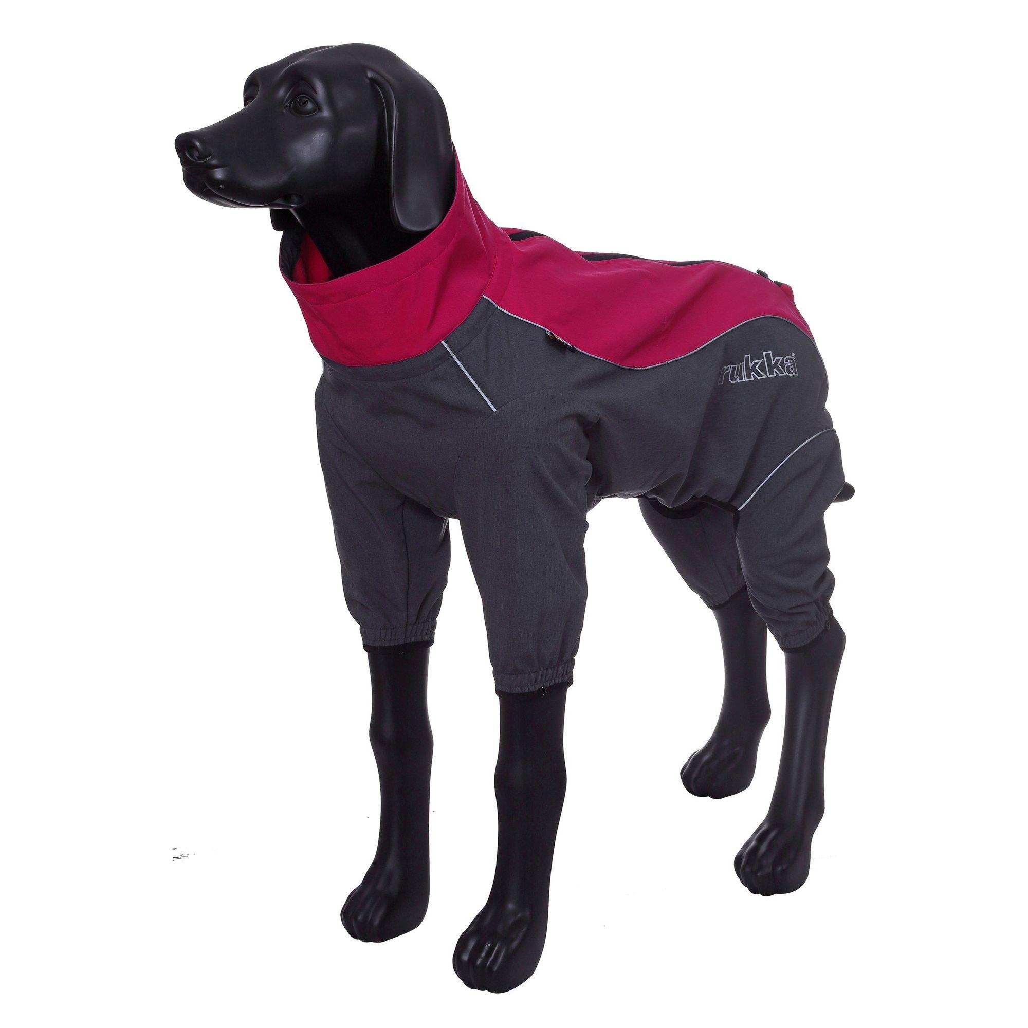 Комбинезон для собак RUKKA Windmaster Solid красный 25см