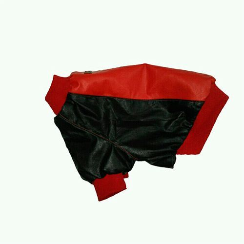 Куртка для собак ДОГ МАСТЕР Blue/Red Спортивная из эко-кожи размер XL 32см цена