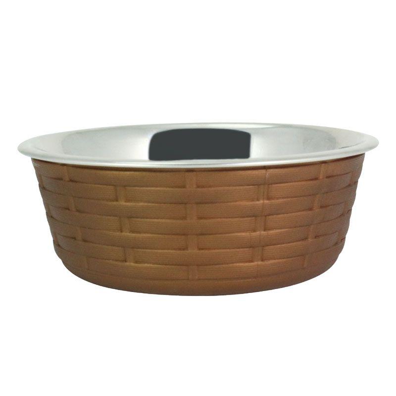 Миска для животных Foxie Woven Fusion Bowl металлическая 1,6л