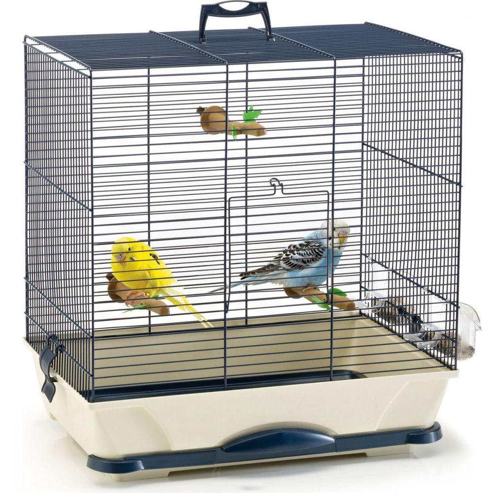 Клетка для птиц SAVIC Primo 30 синяя 42x25x41,5см