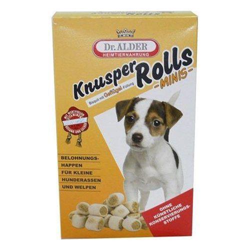 Лакомство для собак Dr. ALDER`s Knusper Rolls Minis печенье для мелких пород ягненок, рис 500г корм для собак dr alder s my lord премиум gold regular 100%мясо птицы рис сух 15кг