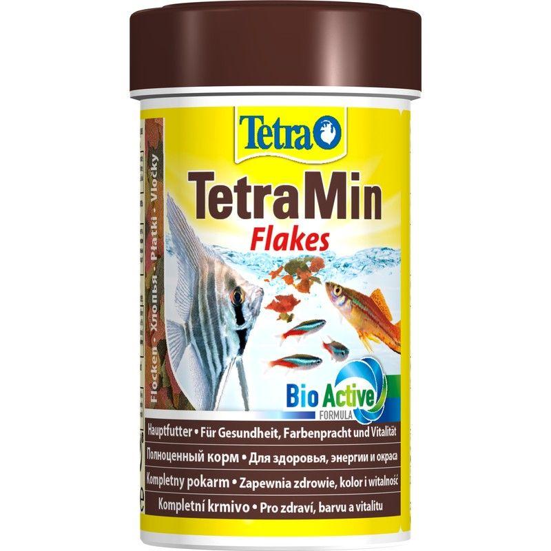 Корм для рыб TETRA Min для всех видов рыб в виде хлопьев 100мл корм для рыб tetra betta в виде гранул 5г