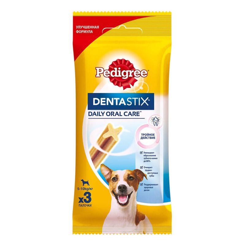 Лакомство для собак Pedigree Denta Stix для ухода за зубами для щенков и собак мелких пород 45г