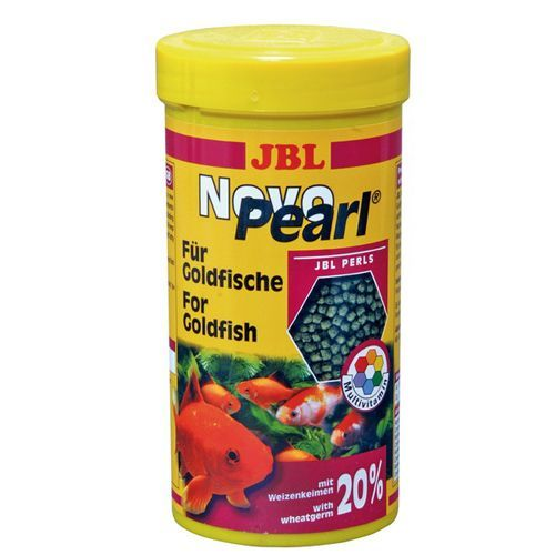 Корм для рыб JBL NovoPearl для золотых рыб в гранулах, 250мл. (90г) корм для рыб jbl novogranocolor основной в форме гранул для яркой окраски рыб в банке 250мл 120г