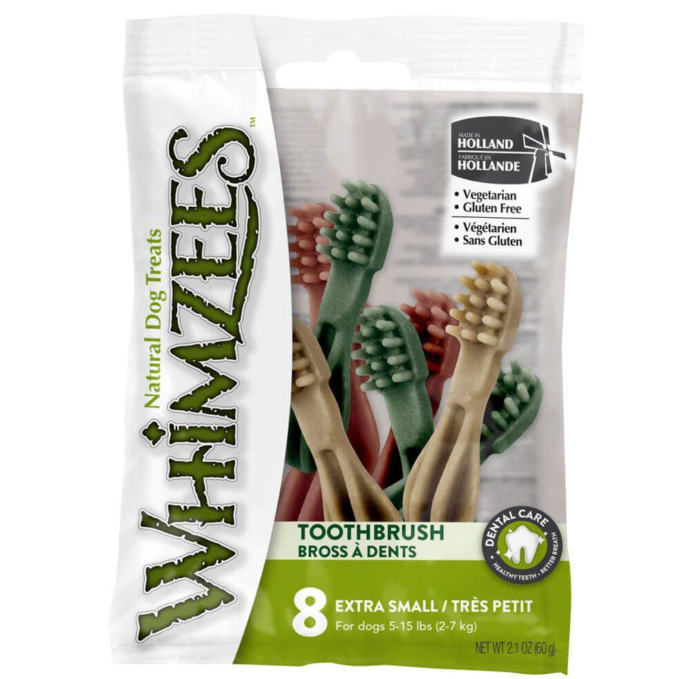 Лакомство для собак WHIMZEES Зубная щетка XS 9см 8шт в блистере щетка зубная blackwood medium