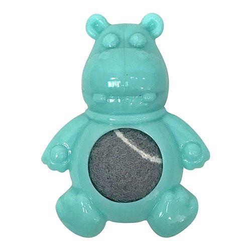 Игрушка для собак CHOMPER Mini Paws Бегемот с теннисным мячом и пищалкой 10,5 см игрушка для собак kong сквиз джелс бегемот большой с пищалкой цвет розовый