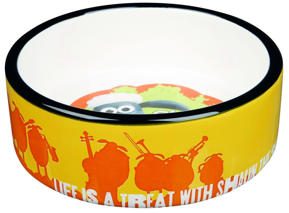 Миска для животных TRIXIE Shaun the Sheep керамическая оранжевая 12см 300мл аромалампа индонезийская ручной росписи керамическая 12см 12 см