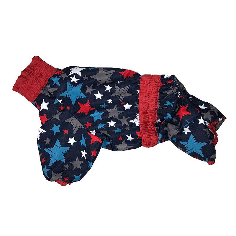 Комбинезон-плащ для собак ДОГ МАСТЕР на подкладке с отделкой размер S 24 см