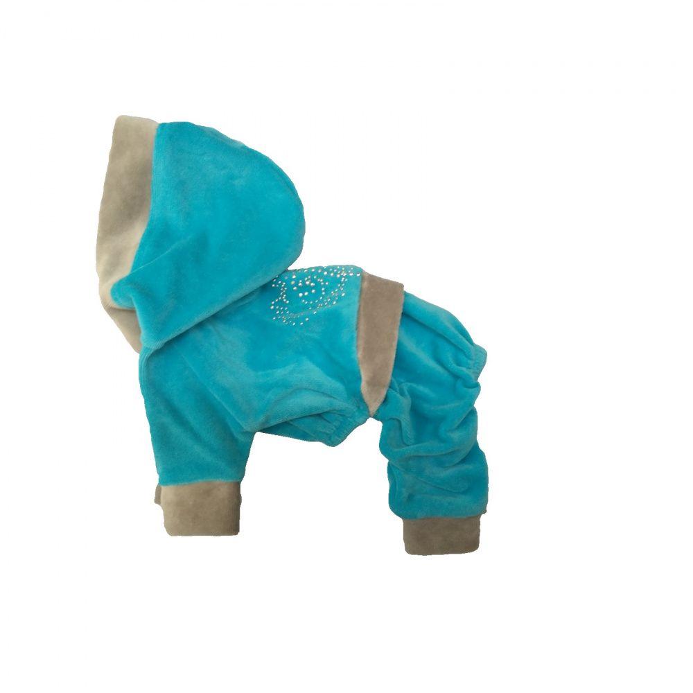 Спортивный костюм для собак ДОГ МАСТЕР из велюра размер M 26см