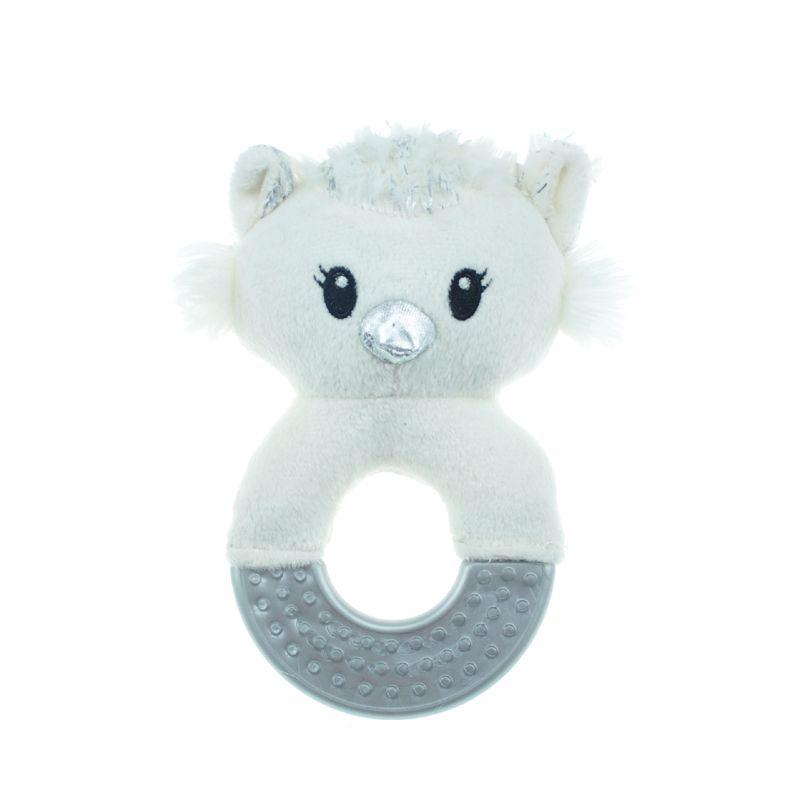 Игрушка для собак CHOMPER Let It Snow Сова на кольце из резины с пищалкой 17 см