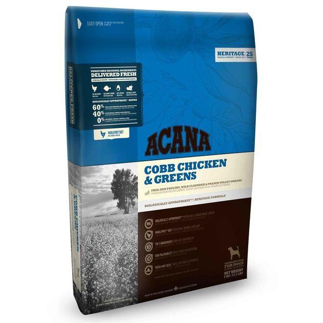 Корм для собак ACANA Heritage цыпленок с зеленью (60/40) сух. 2кг acana heritage sport