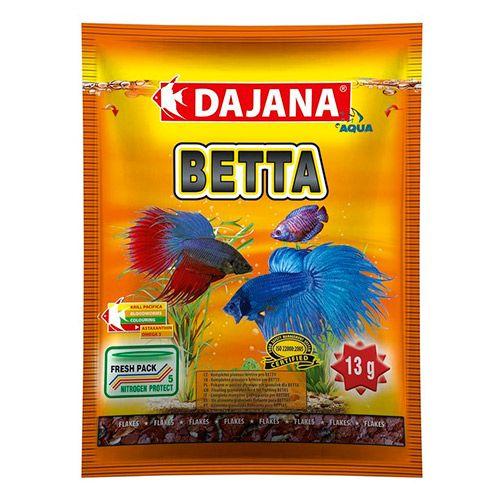 Корм для рыб DAJANA Betta хлопья 80мл dajana корм для рыб dajana legend mini granules мини гранулы 100мл