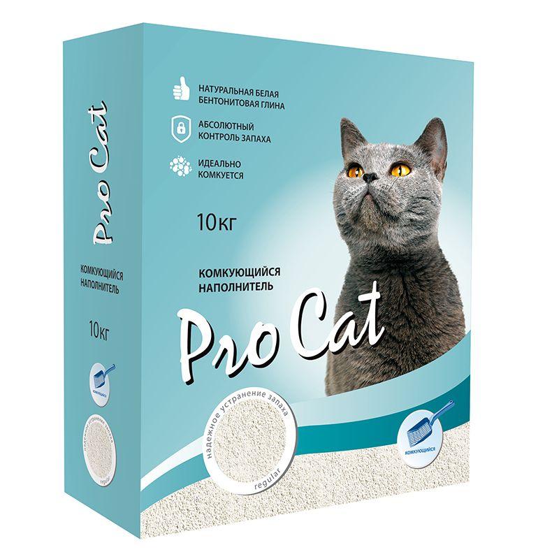 Наполнитель для кошачьего туалета Pro Cat Regular комкующийся экстра белой глины 10кг фото