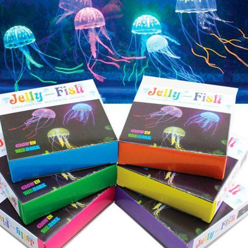 Декор для аквариумов JELLYFISH Медуза силиконовая с неоновым эффектом, маленькая, D=5см