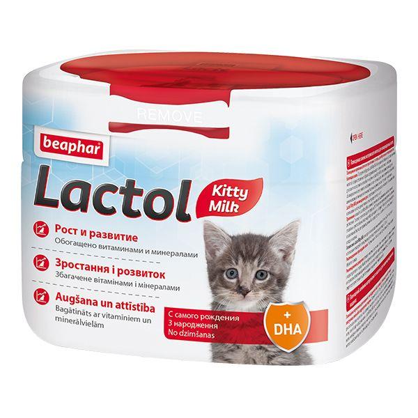Молочная смесь Beaphar Lactol Kitty для котят 250г beaphar лакомство beaphar kitty s junior для котят витаминизированное сердечки 150 таб
