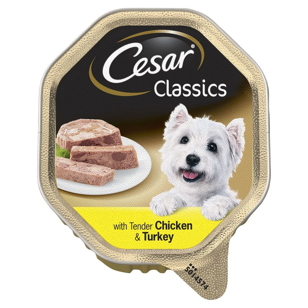 Корм для собак Cesar курица индейка паштет ламист. 150г недорого