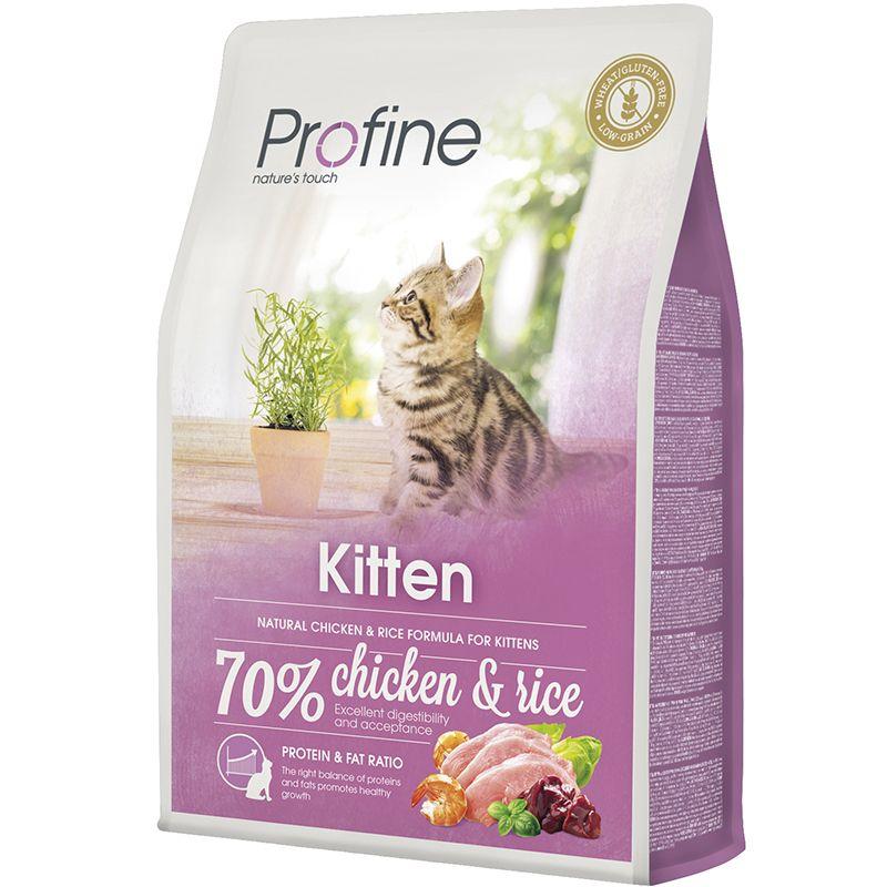 Корм для котят PROFINE Kitten от 1 до 12 месяцев курица сух. 2кг