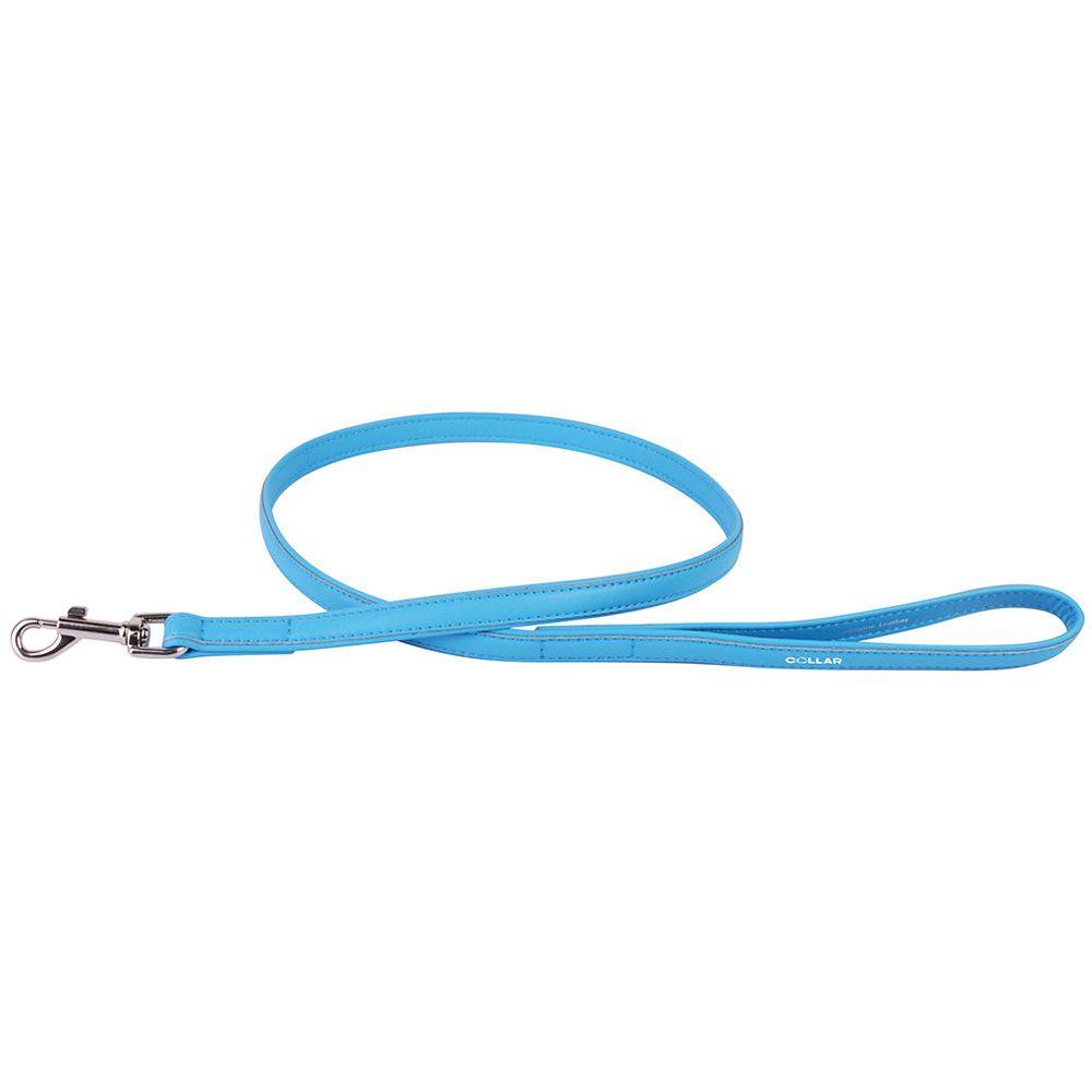 Поводок для собак COLLAR Glamour 9мм 122см синий поводок для собак collar glamour 12мм 122см розовый