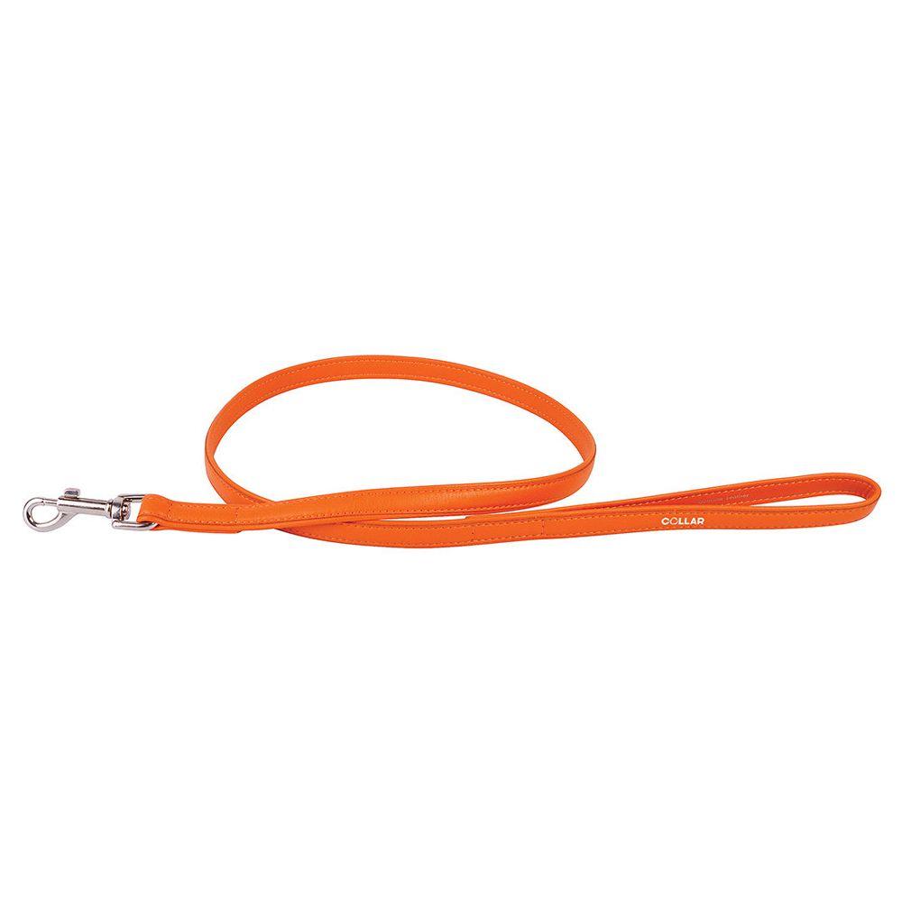 Поводок для собак COLLAR Glamour 12мм 122см оранжевый поводок для собак collar glamour 12мм 122см розовый