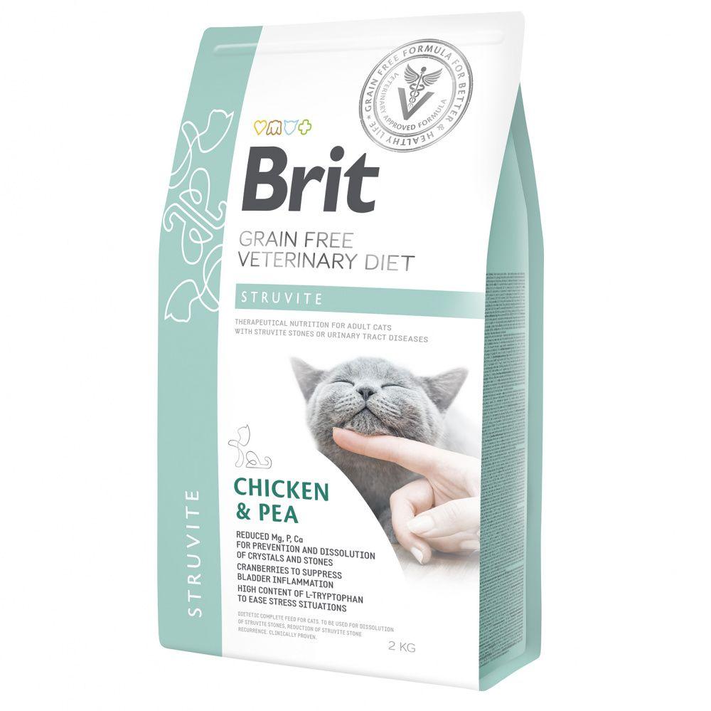 Корм для кошек Brit VDC Struvite беззерновая диета при струвитном типе МКБ сух. 2кг