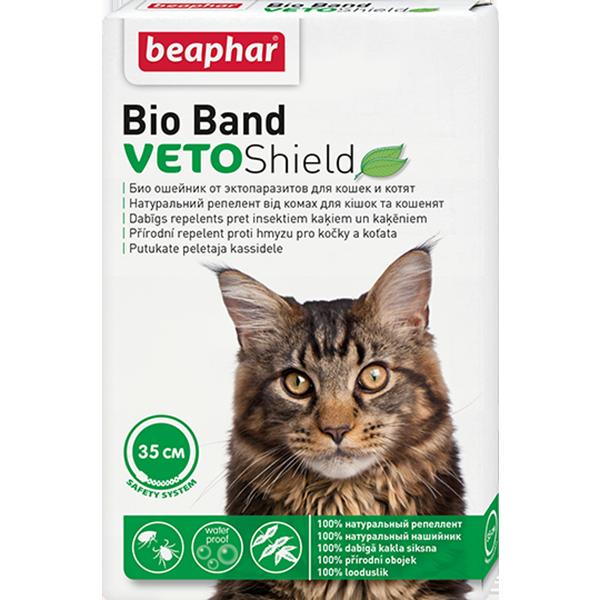 Ошейник для кошек Beaphar Bio+ от блох и клещей 35см