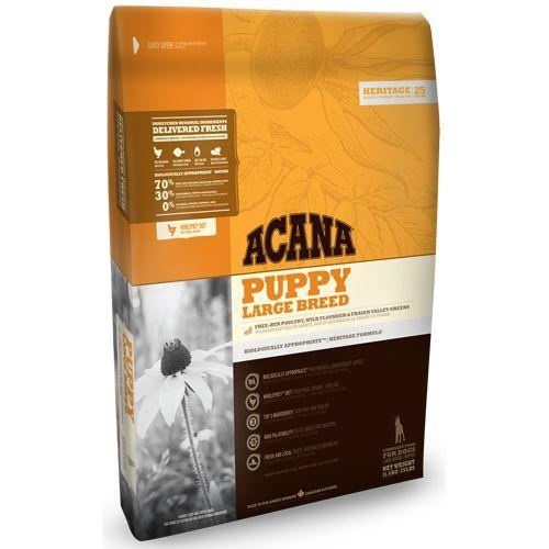 Корм для щенков ACANA Puppy Large Breed Heritage для крупных пород цыпленок сух. 11,4кг