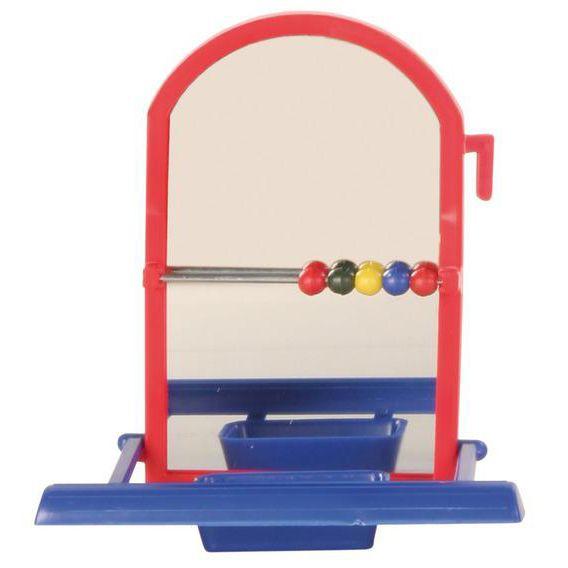Игрушка для птиц TRIXIE Зеркало с жердочкой пластиковое 8см