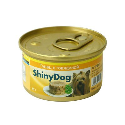 Корм для собак GIMBORN Shiny Dog Тунец с говядиной конс.